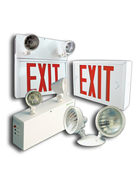 Exit Sign & Emergency Lights